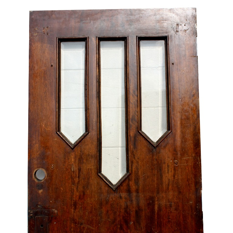 Reclaimed antique 34 entry door with beveled glass ned136 for Exterior glass doors for sale