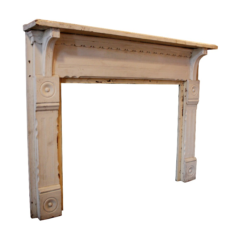 Antique Fireplace Mantels Salvaged from Nashville Home, c. 1890 - TWO  AVAILABLE, NFPM47-RW - For Sale - Antique Fireplace Mantels Salvaged From Nashville Home, C. 1890