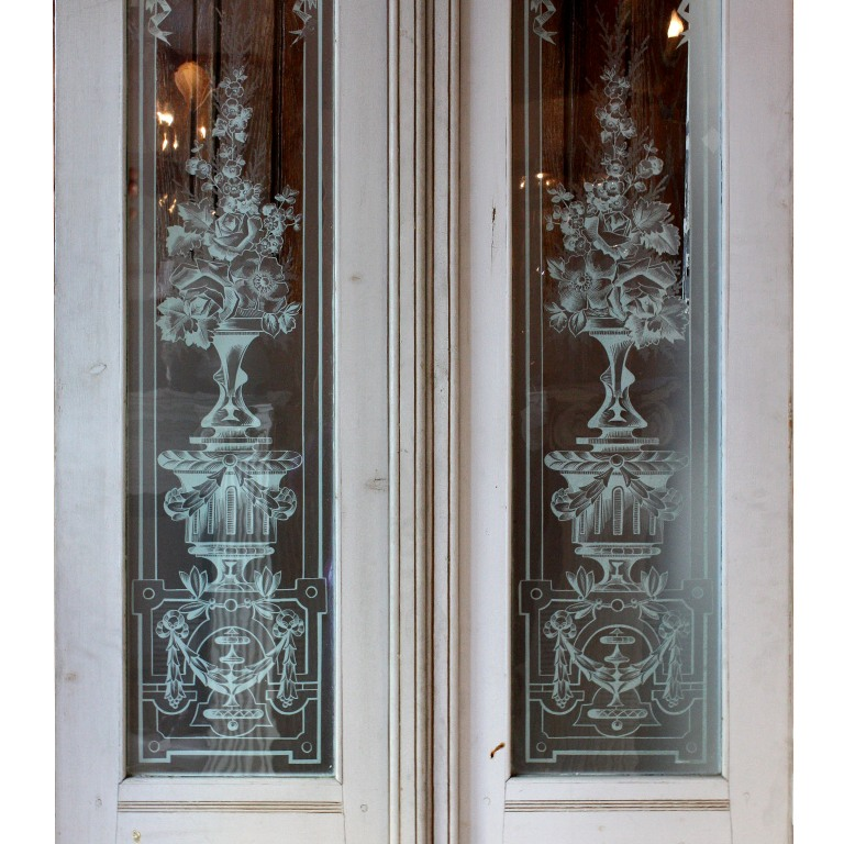 Cool Beautiful Antique Salvaged 36 Exterior Double Doors With Etched Glass Ned105 Rw For Sale Door Handles Collection Olytizonderlifede