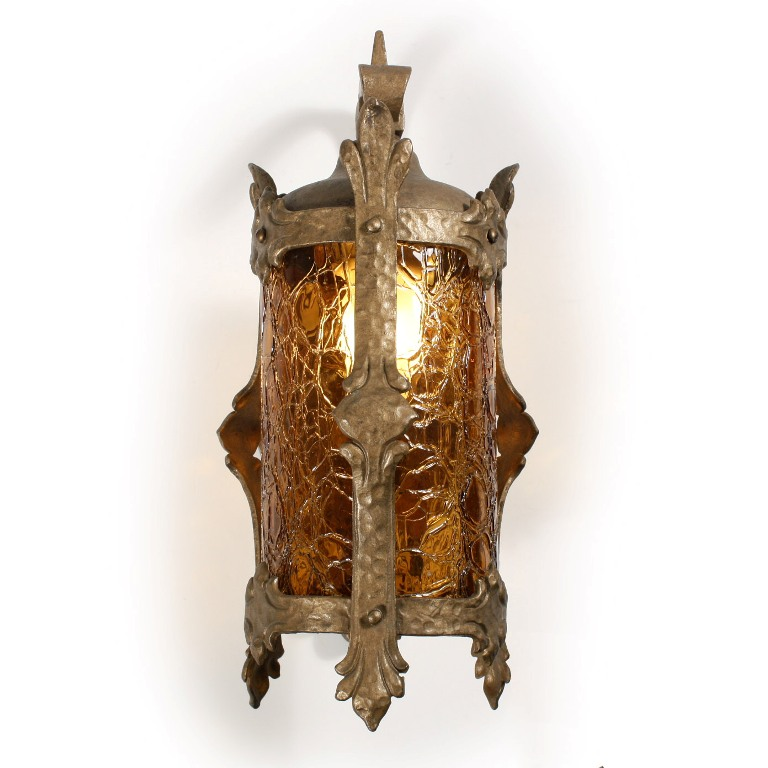remarkable antique exterior tudor bronze lantern with original
