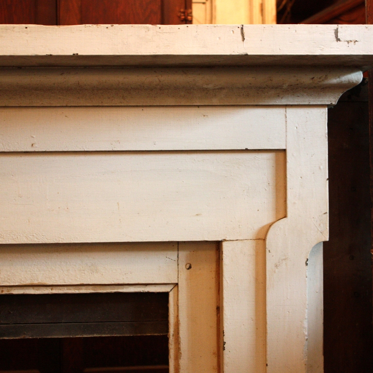 Handsome Antique Federal Wood Fireplace Mantel 1823