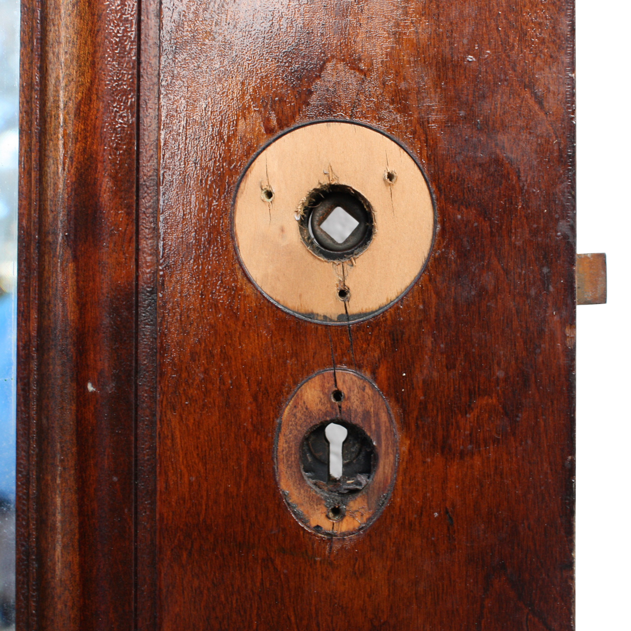 Antique one panel 28 solid wood miracle door with beveled for Solid wood doors for sale