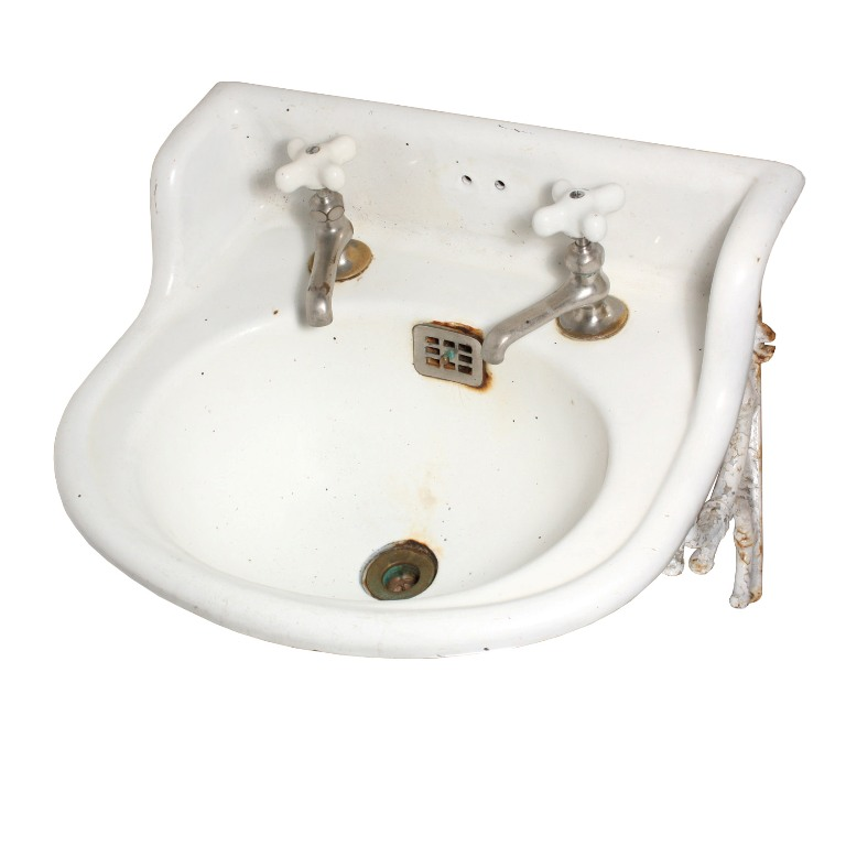 Rare Antique Wall-Mount Sink with Decorative Detail, 19th Century NSK1 ...