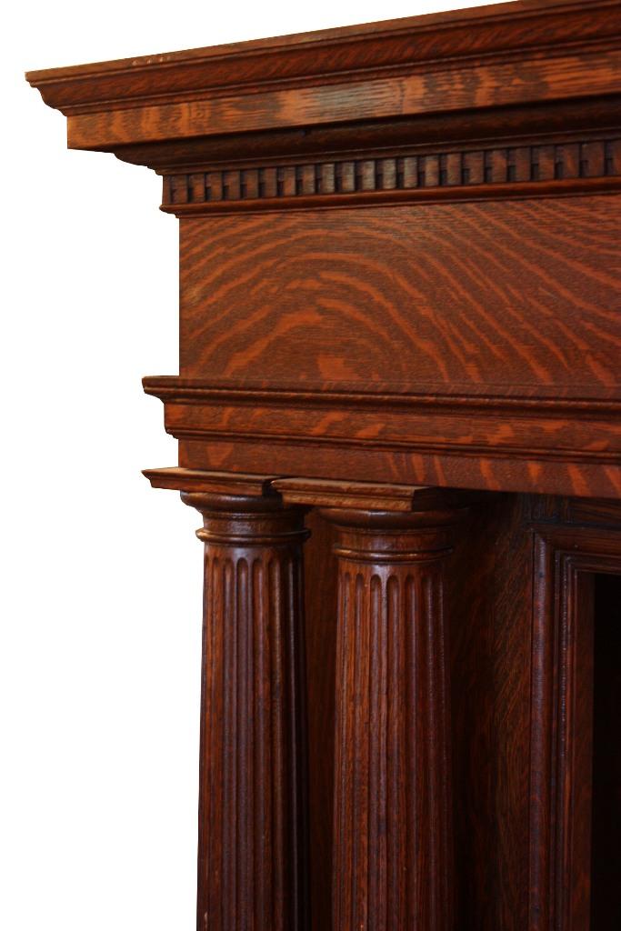 Gorgeous antique quarter sawn oak mantel with columns c for Interior columns for sale
