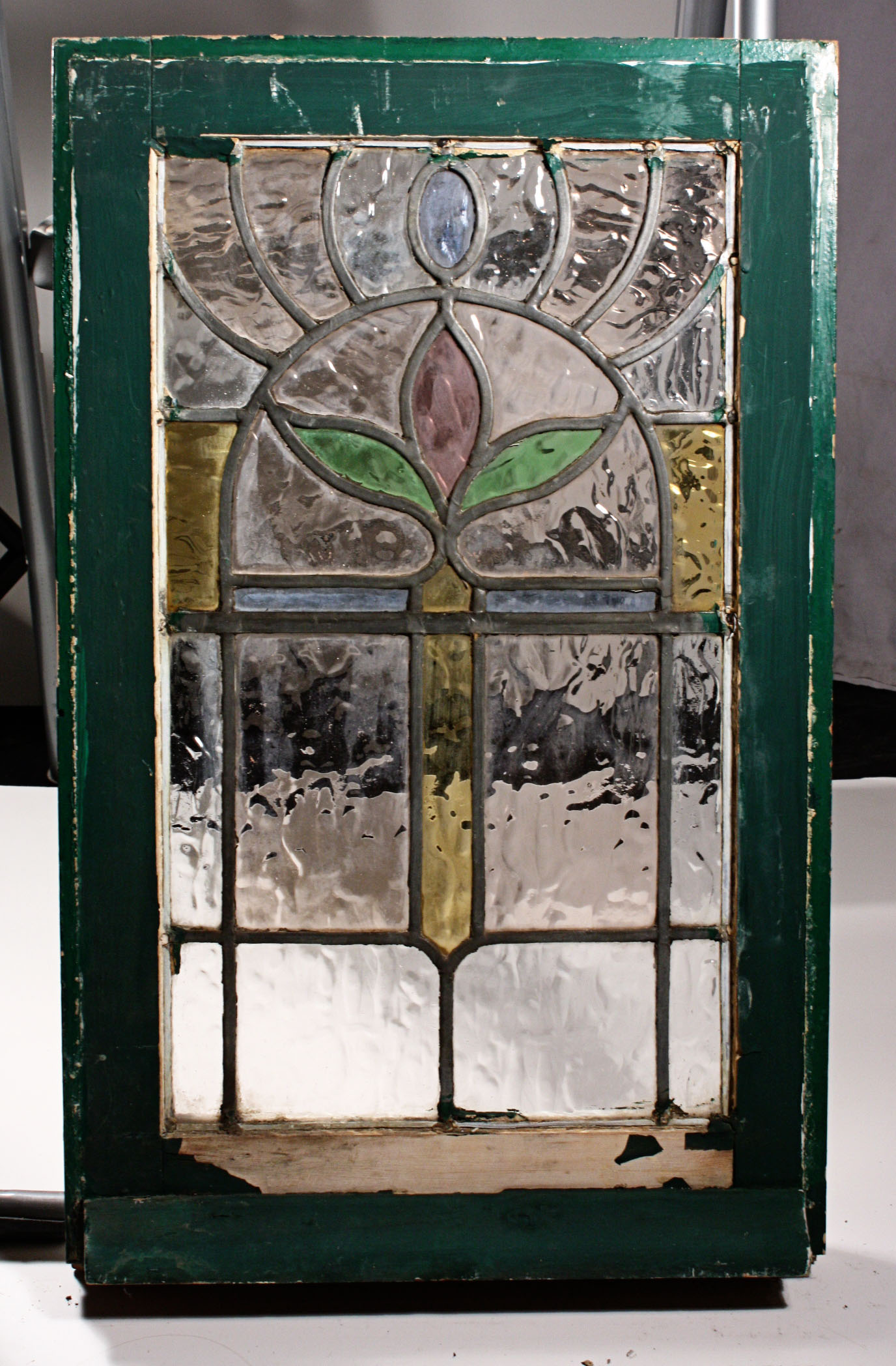 Gorgeous Antique Art Nouveau American Stained Glass Window