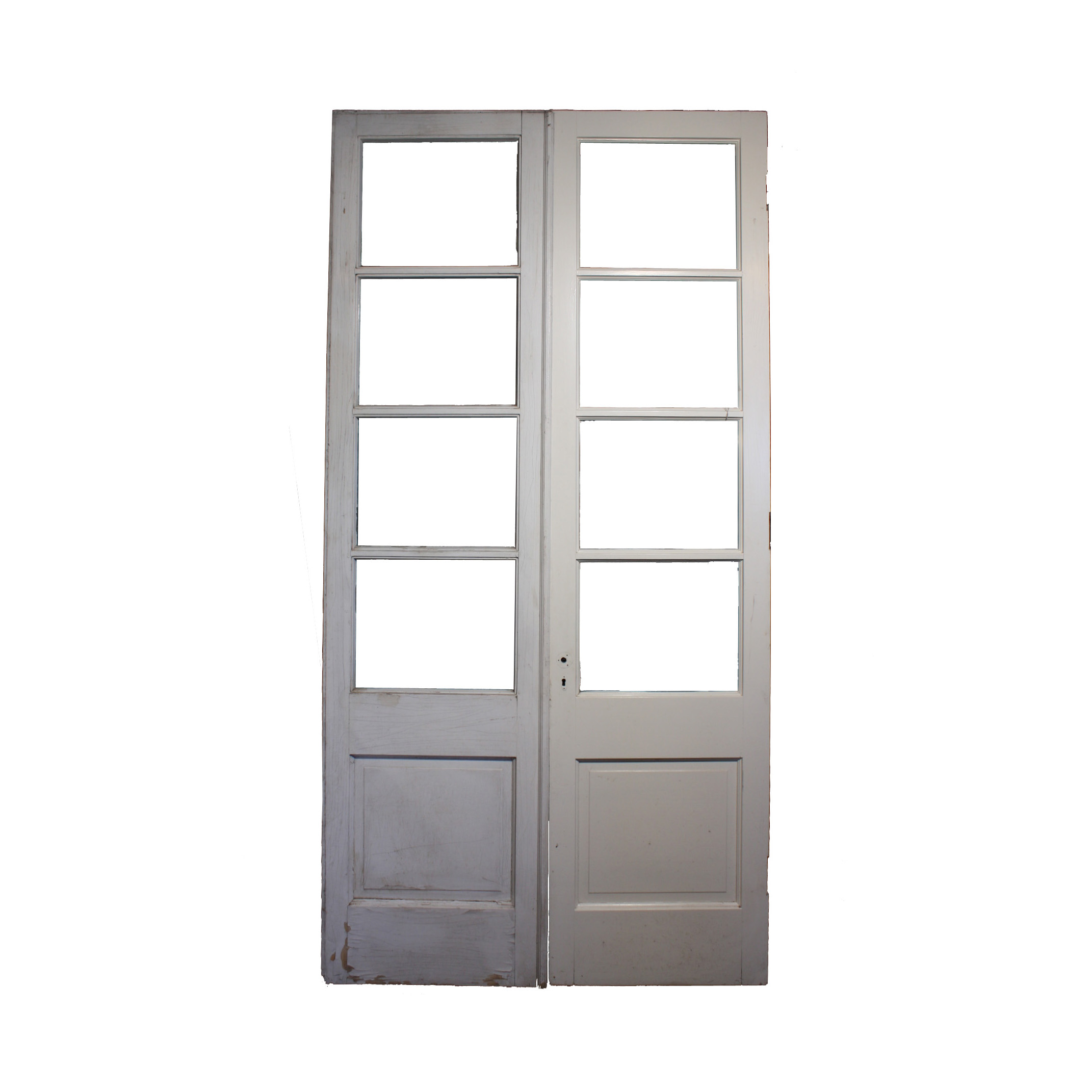 Reclaimed pair of antique french double doors ned188 rw for Double french doors for sale