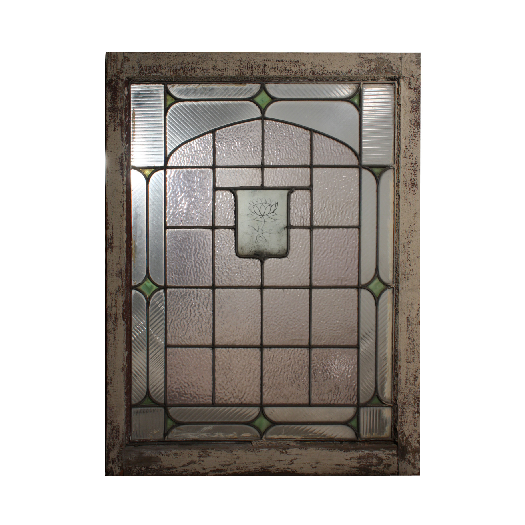 This Is A Beautiful Antique American Stained And Leaded Gl Window Dating From The 1920 S Featuring An Etched Painted Design