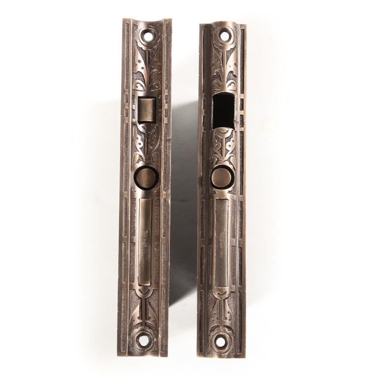 Pair Of Antique Eastlake Pocket Door Locks For Double