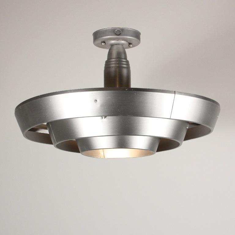 unique antique industrial flush mount light c 1930 39 s nc1141 rw for