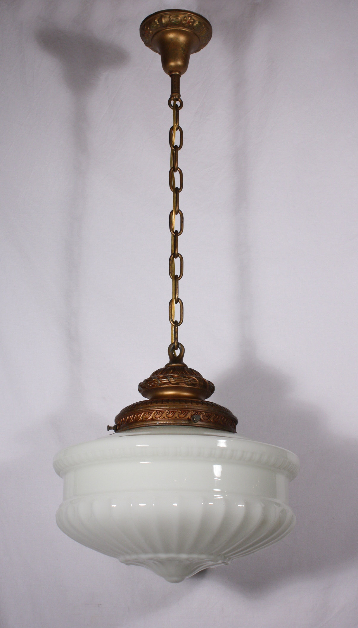 Large antique pendant light fixture with original milk glass shade large antique pendant light fixture with original milk glass shade c 1910 nc547 for sale aloadofball Choice Image