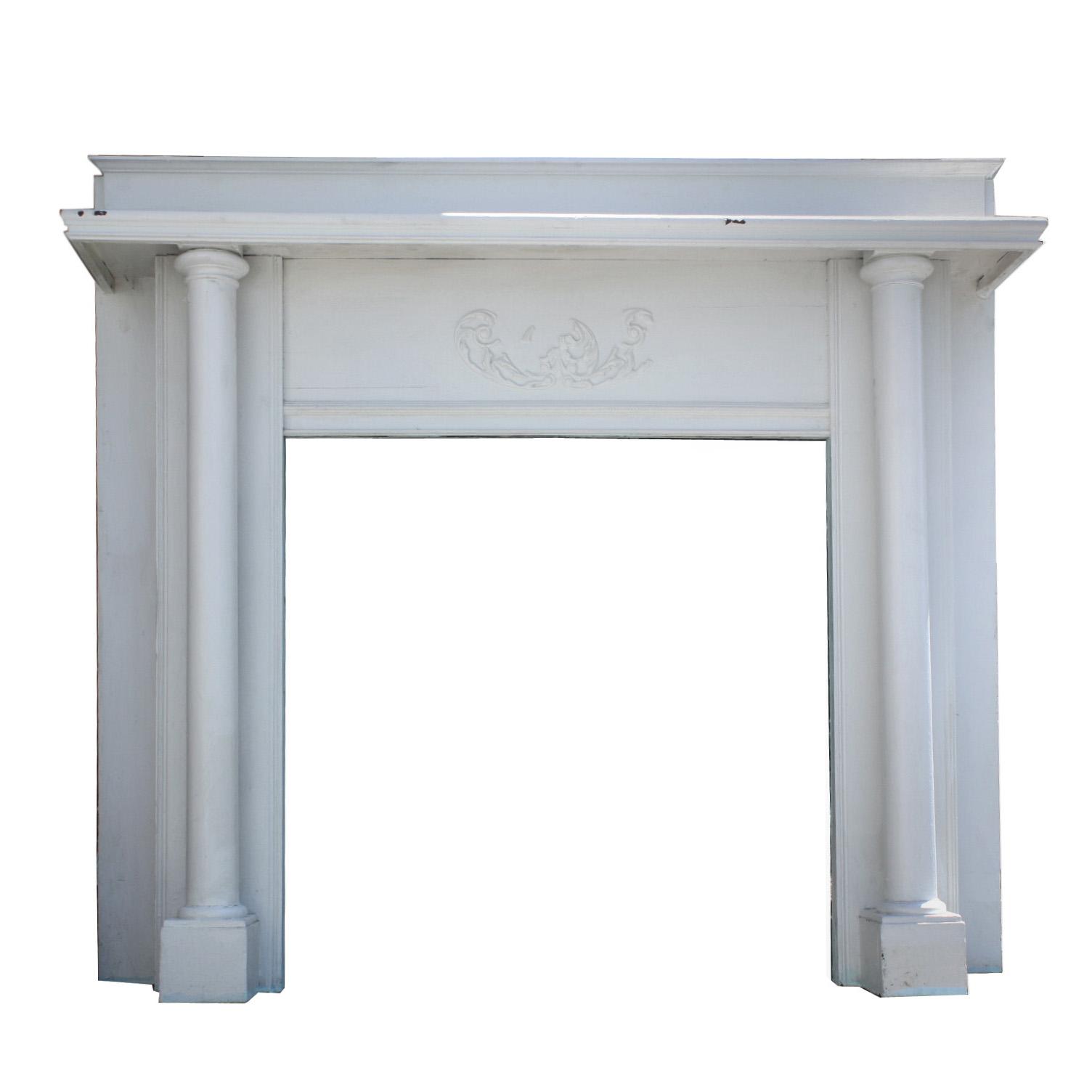 Elegant Antique Fireplace Mantel C 1900 Nfpm72 Rw For Sale Classifieds