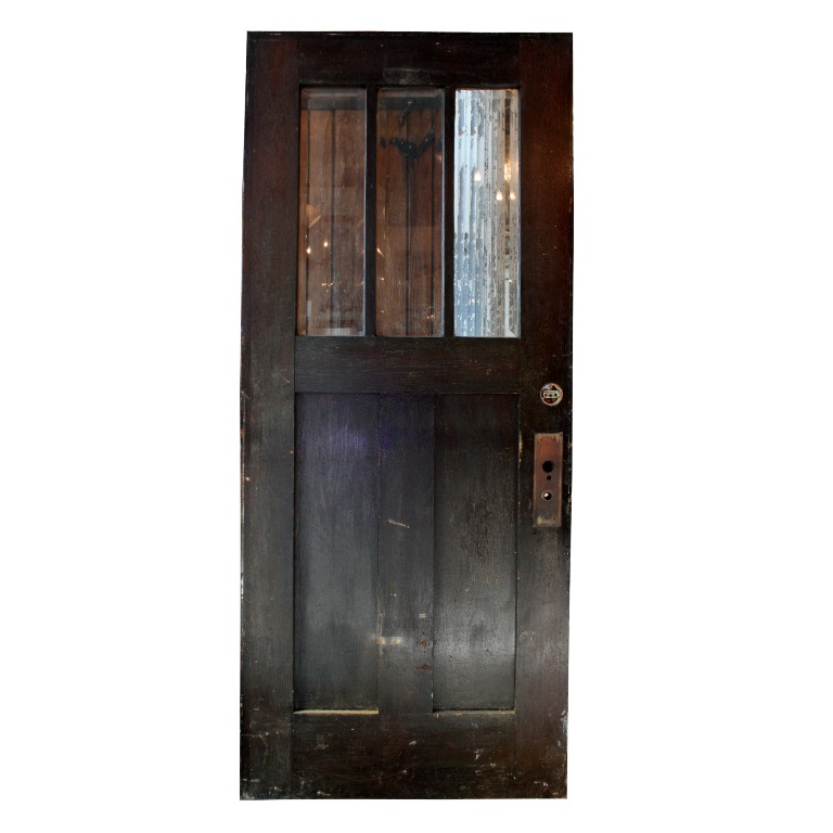Gorgeous antique 36 salvaged exterior door with beveled for Old wood doors salvaged