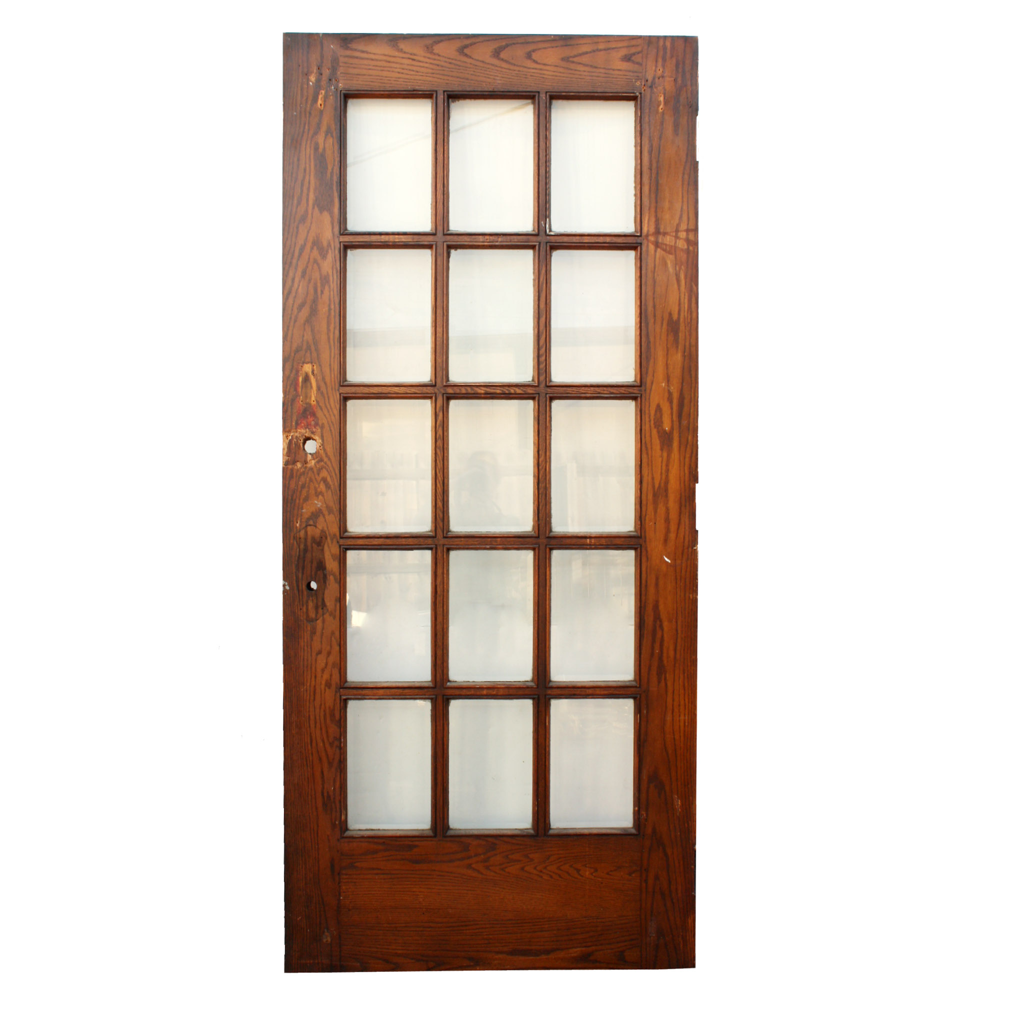Antique salvaged 36 exterior divided light door with for Exterior glass doors for sale