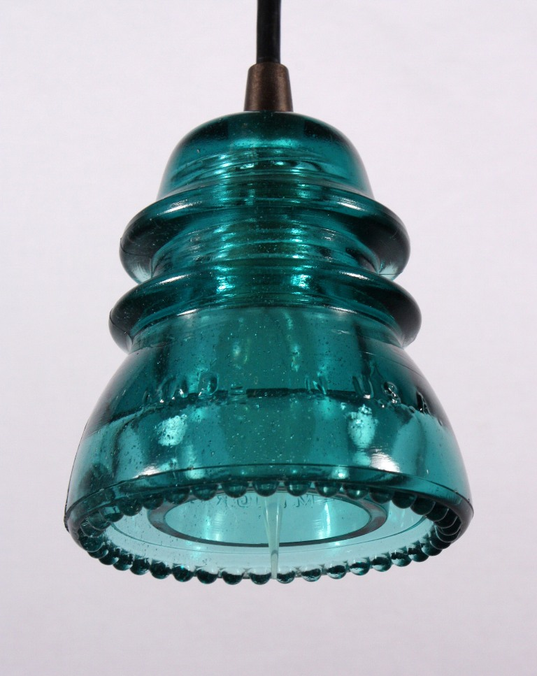 Industrial Pendant Lights Made From Antique Glass