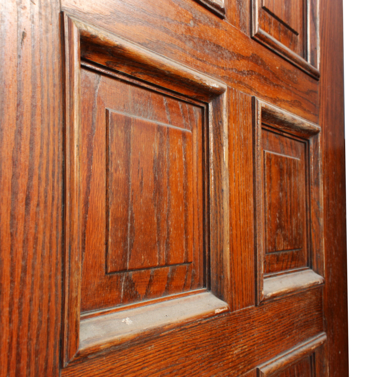 Handsome antique 36 solid wood door with recessed panels for Old wood doors for sale