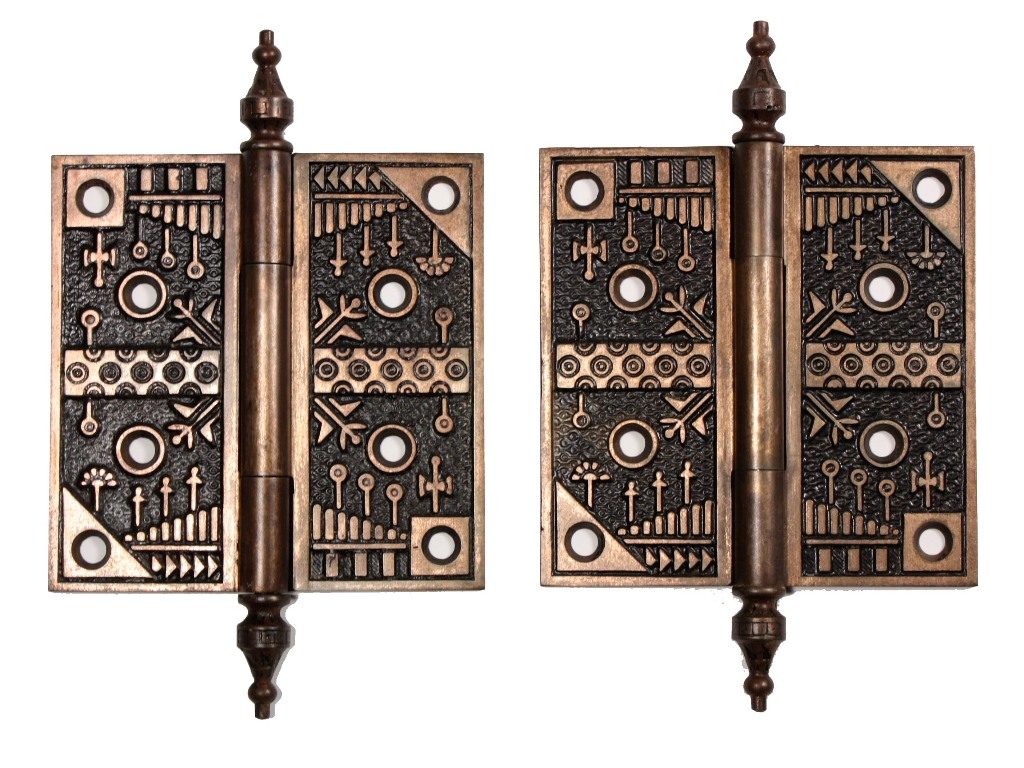 Gorgeous pair of antique 5 windsor hinges by reading for 5 gorgeous pairs for antique white cabinets