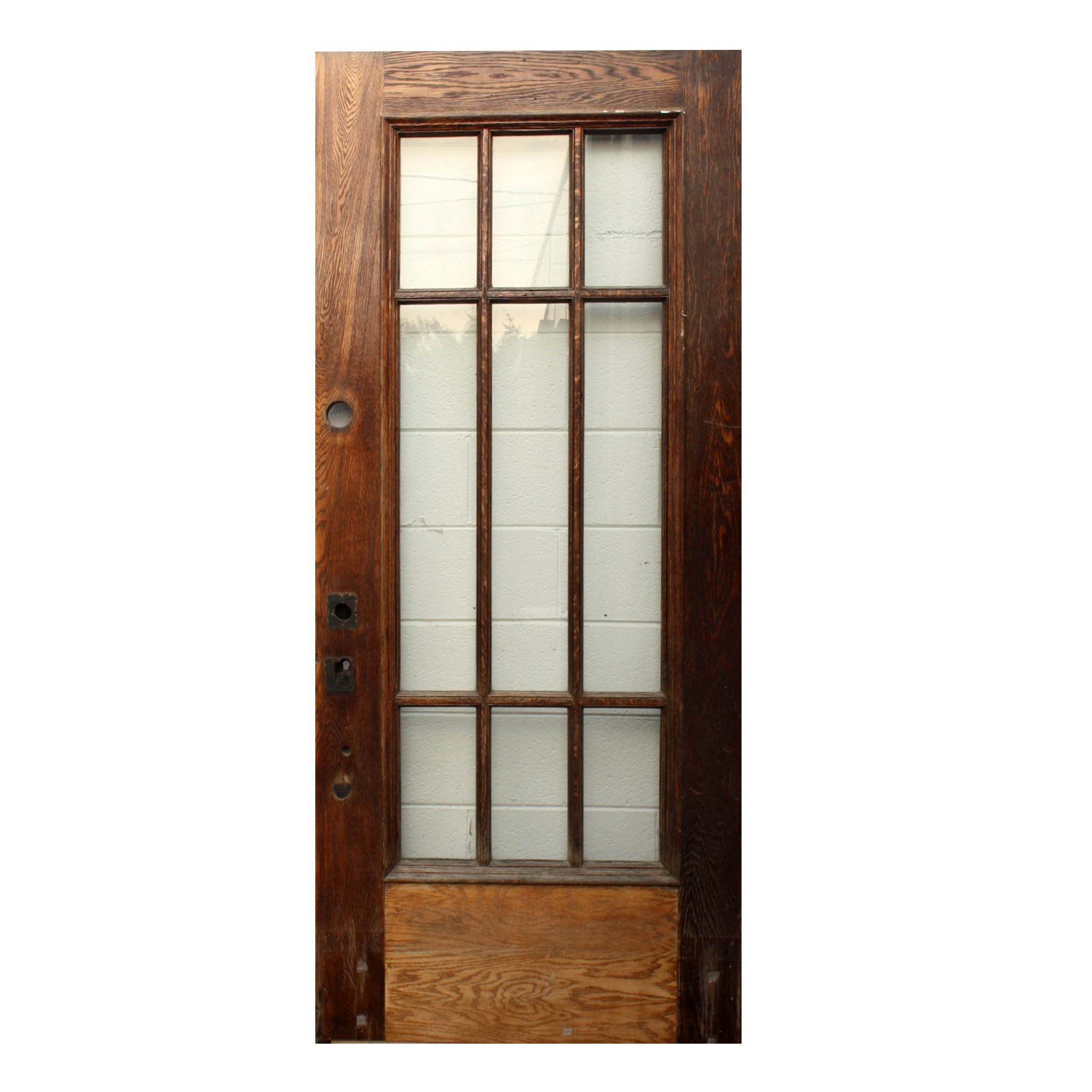 Reclaimed 36 Exterior Oak Prairie Style Door NED182 For Sale