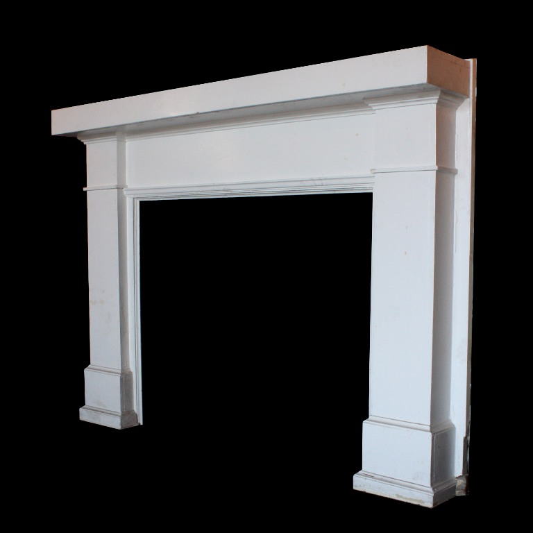 handsome antique heart pine fireplace mantel early 1900s nfpm32rw for sale