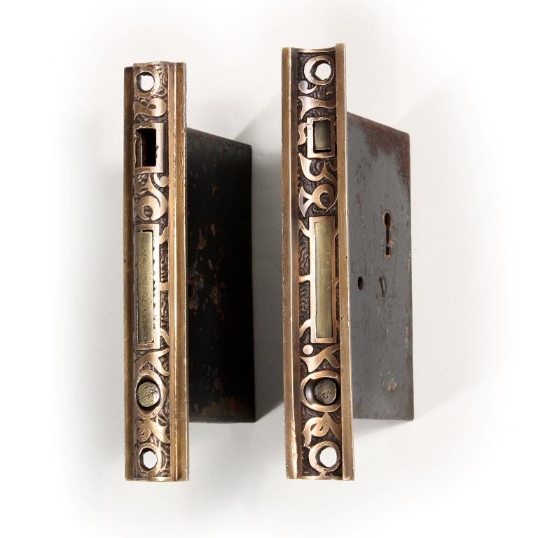 Pair Of Antique Mallory Amp Wheeler Arabic Pocket Door