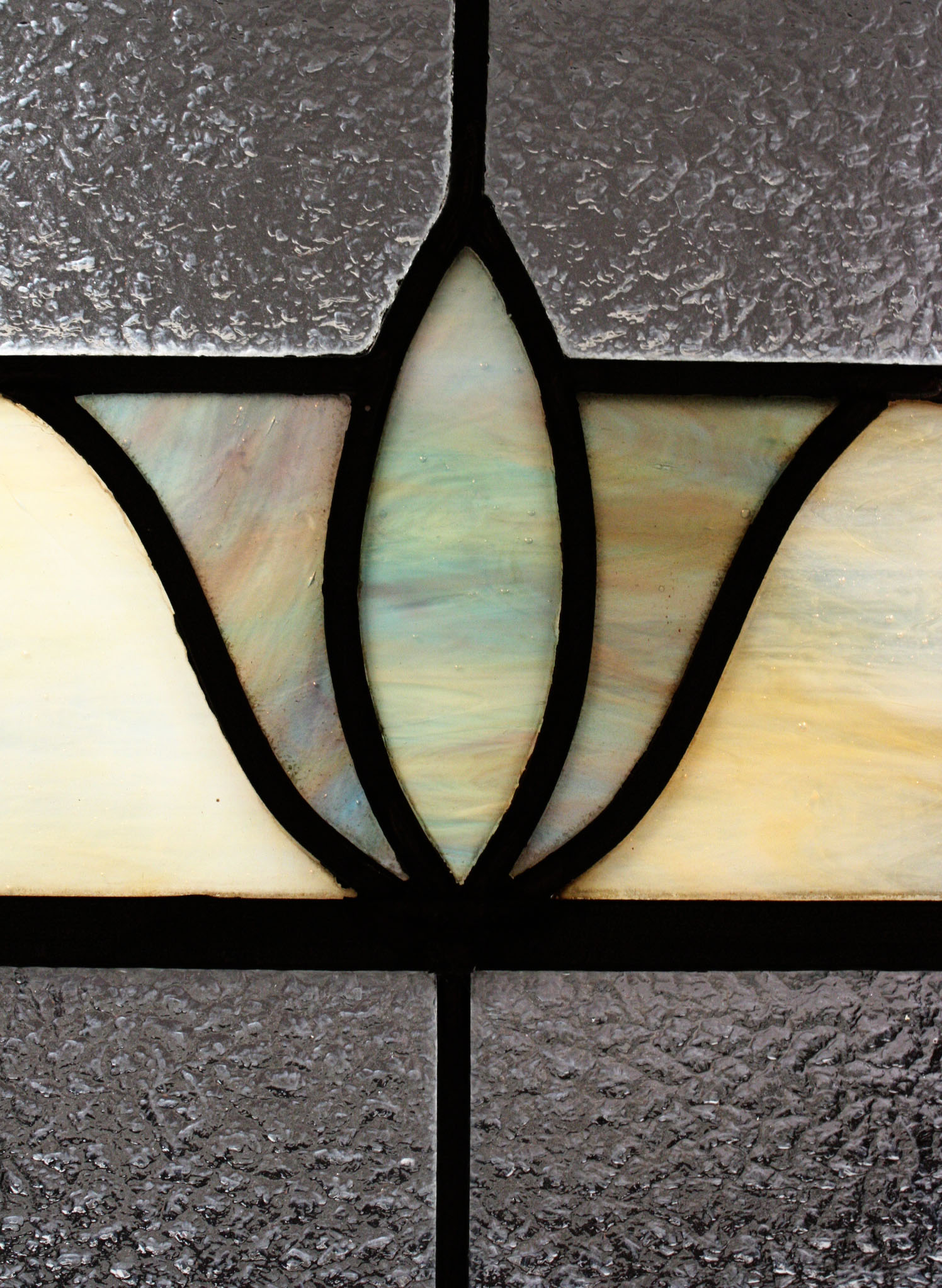 Fabulous Antique American Stained Glass Window Art Deco