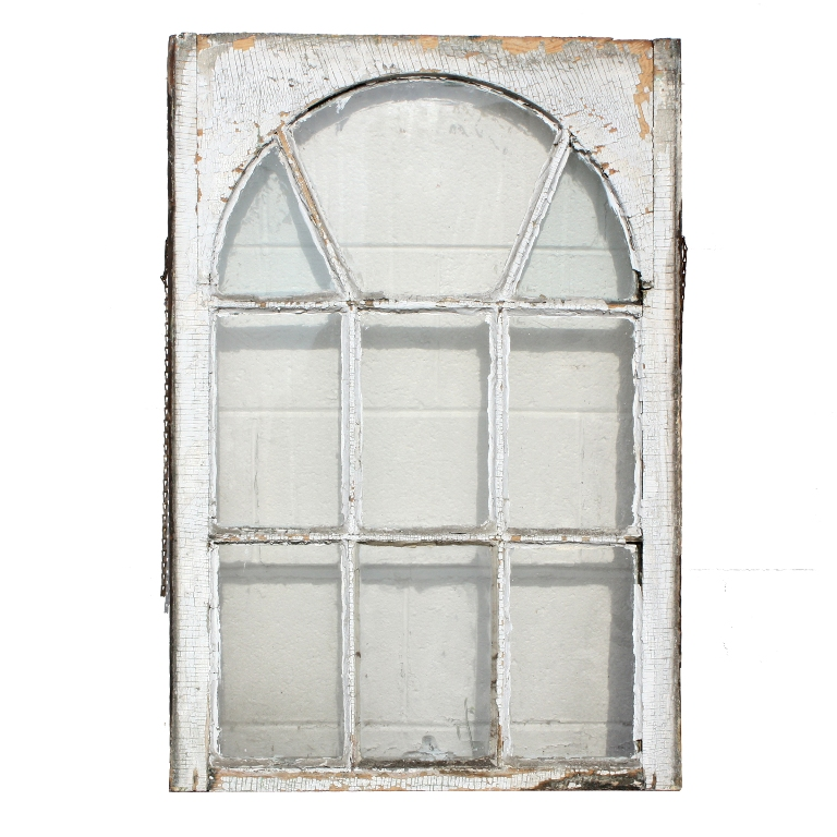 Remarkable salvaged antique windows with arched design for Where to buy old windows for crafts