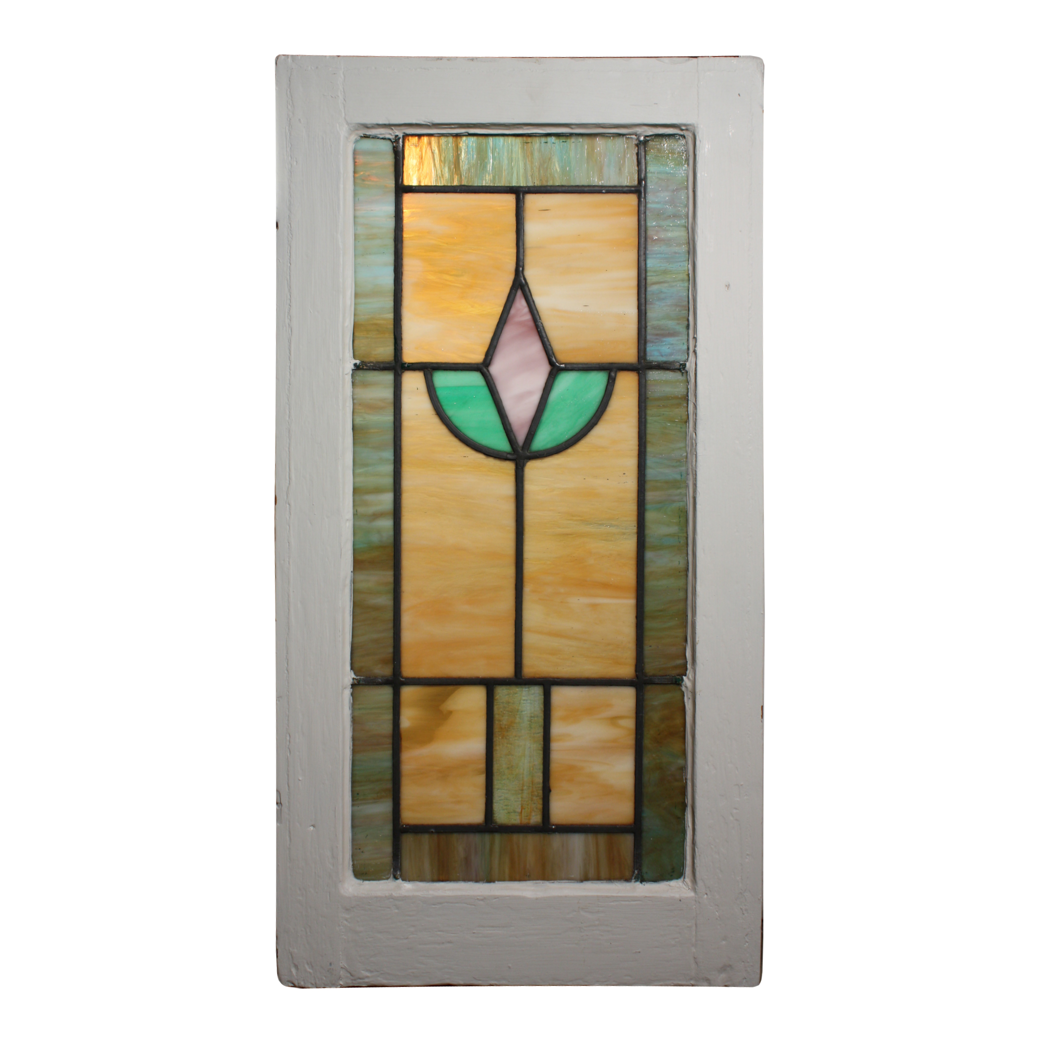 Fabulous antique american stained glass window with for 1900 stained glass window