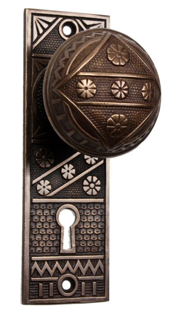 Antique Door Knobs Hardware three matching antique door hardware setsf. c. linde, with