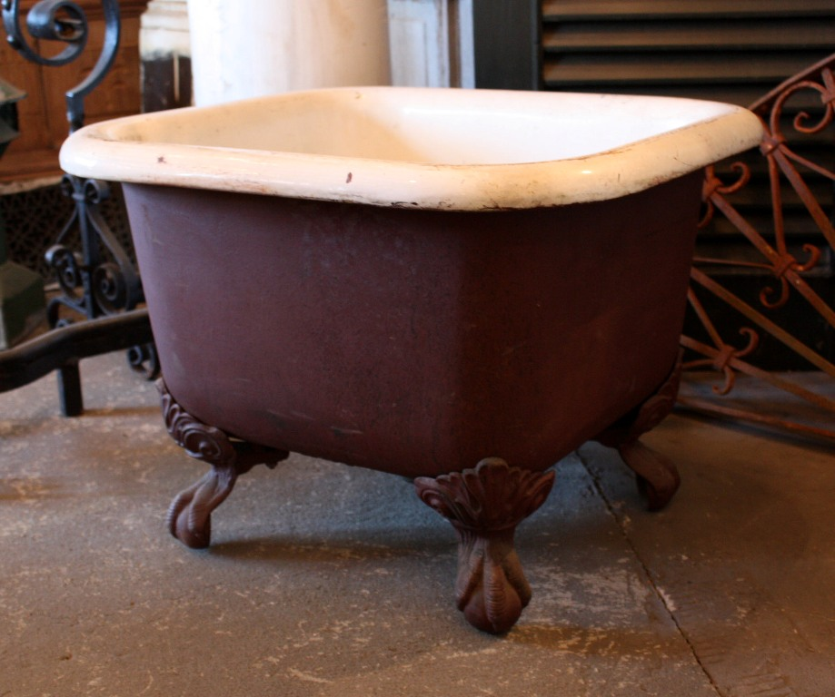 very rare antique 19th century clawfoot foot bath 2 x 2 nfb1 for sale. Black Bedroom Furniture Sets. Home Design Ideas