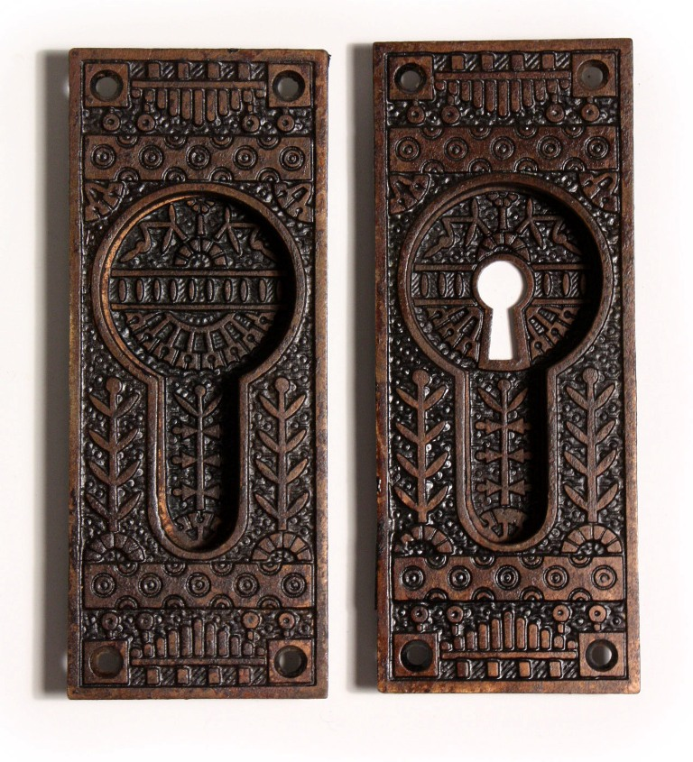 This Is A Wonderful Antique U201cWindsoru201d Pocket Door Hardware Set In Cast  Iron, Designed For A Pair Of Double Doors. Made By Reading Hardware In The  1880u0027s, ...