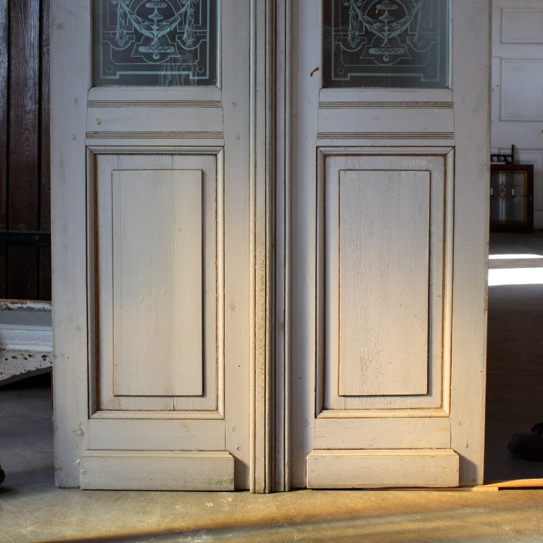 Beautiful antique salvaged 36 exterior double doors with for Exterior windows for sale