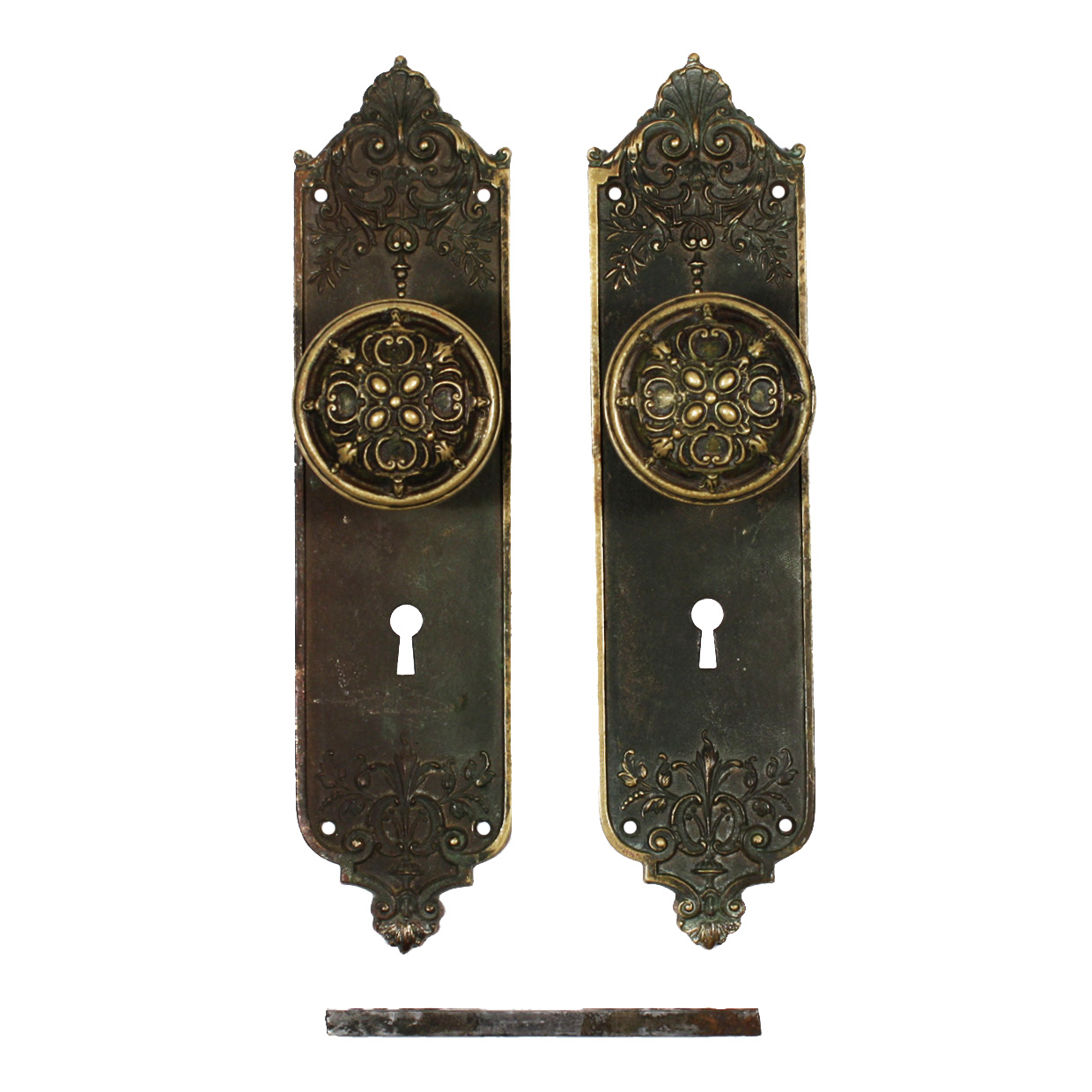 Beautiful Antique Bronze Door Hardware Set Marquette By