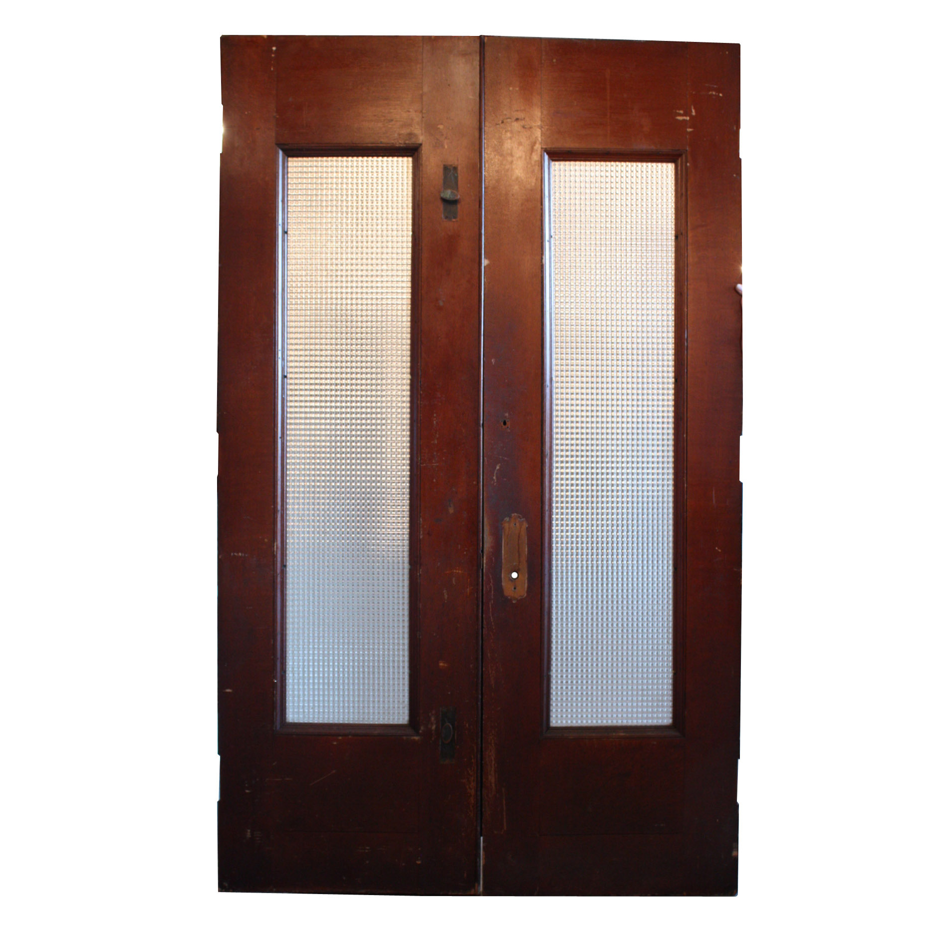 Amazing antique figural exterior double doors with windows for Windows doors for sale