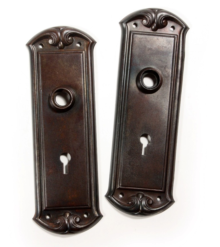 Antique Door Hardware Sets With Doorknobs U0026 Plates, Early 1900u0027s NDKS109     1 AVAILABLE   For Sale