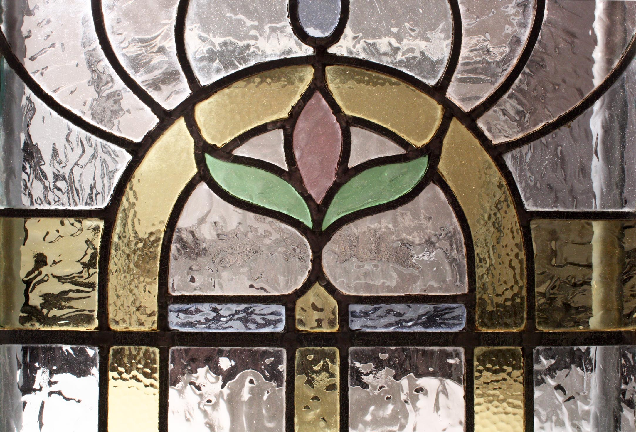 Beautiful Antique Art Nouveau American Stained Glass
