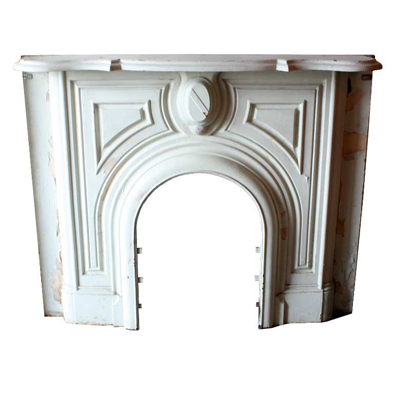 Vintage cast iron mantel