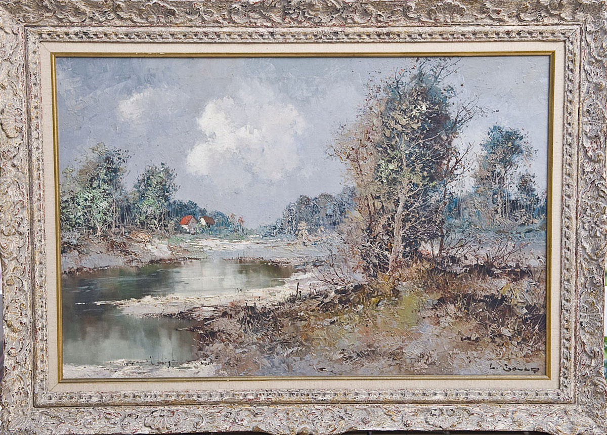 Antique museum quality willi bauer oil painting for sale for Oil art for sale