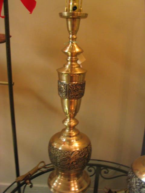 Solid Brass Oriental Design Table Lamp - TBBTL202 For Sale ...