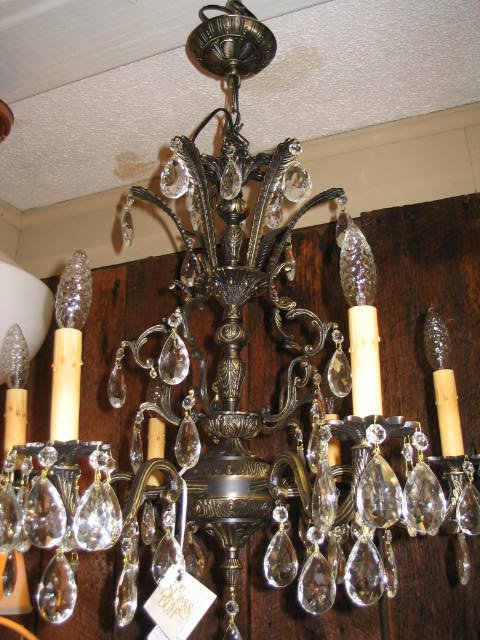 Vintage 1950 39 39 s heavy 6 lite chandelier for sale classifieds - Chandeliers on sale online ...
