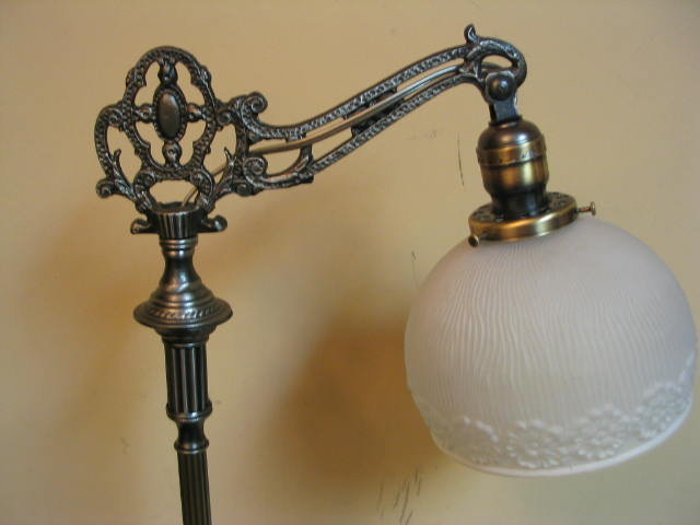 Early 1900 S Bridge Arm Floor Lamp Tbbfl189 For Sale