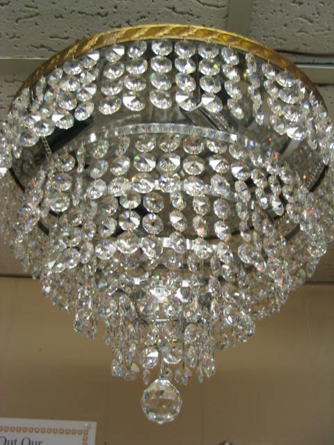 Italian 5Tier Flush Mount Chandelier wCrystal Beads For Sale
