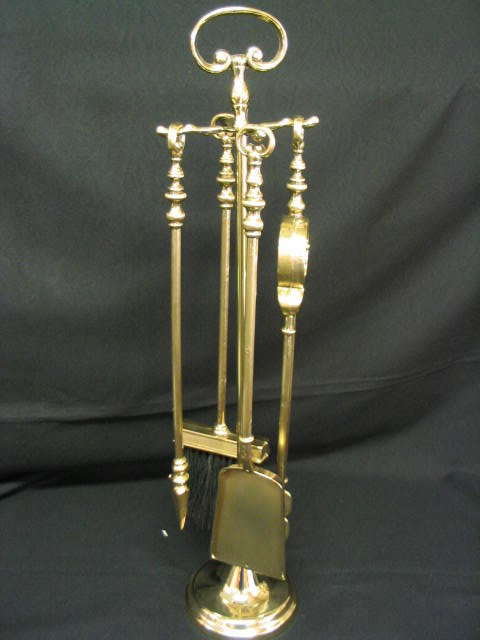 Fire Tool Set Small Size Solid Brass For Sale