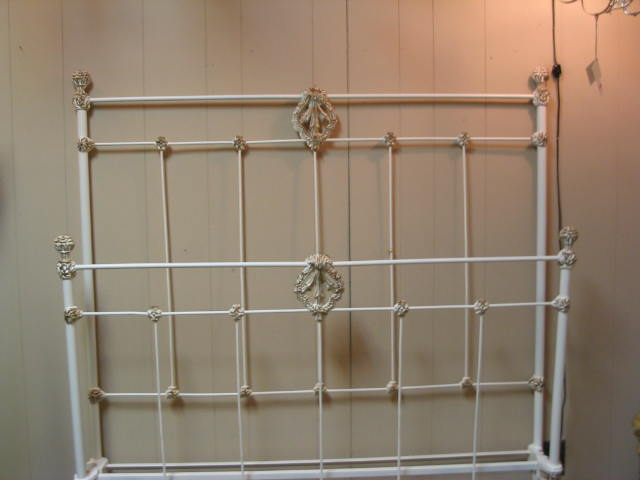 Iron Bed Full Size Early 1900 S Tbb166 For Sale Antiques Com