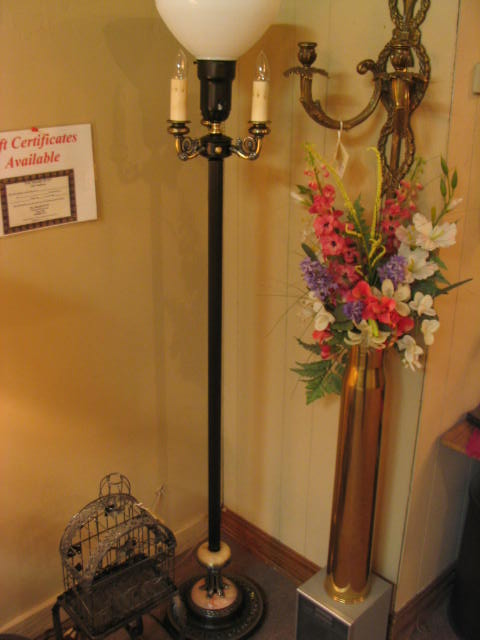 Vintage Floor Lamp With Night Light 213 For Sale