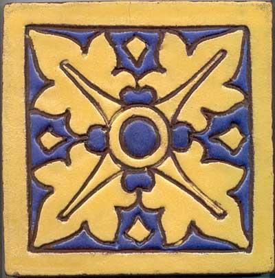 Mueller Mosaic Tile Co. Large Faience Tile For Sale | Antiques.com ...