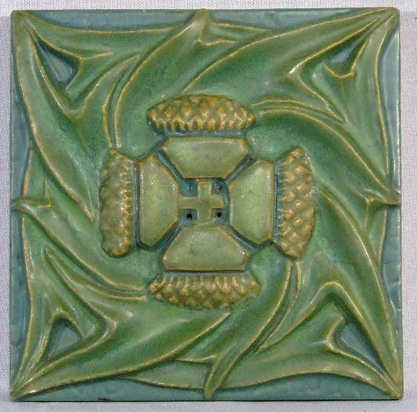 Rookwood pottery tile arts and crafts thistle for sale for Arts and crafts for sale