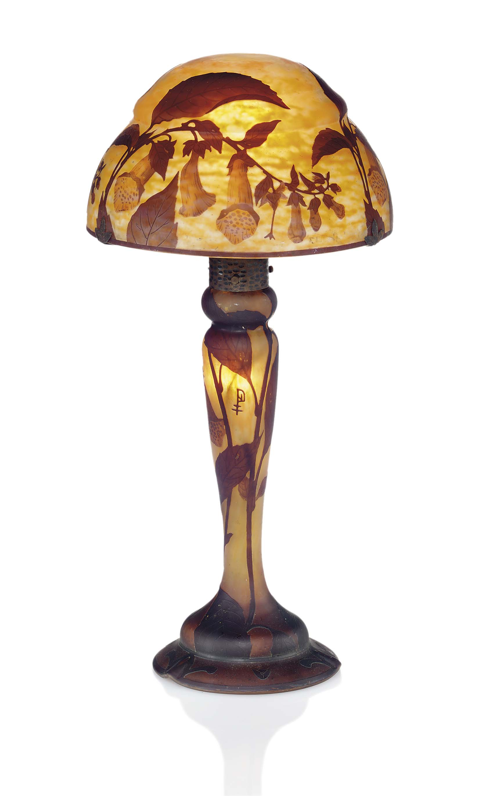 nancy cameo glass table lamp for sale classifieds. Black Bedroom Furniture Sets. Home Design Ideas