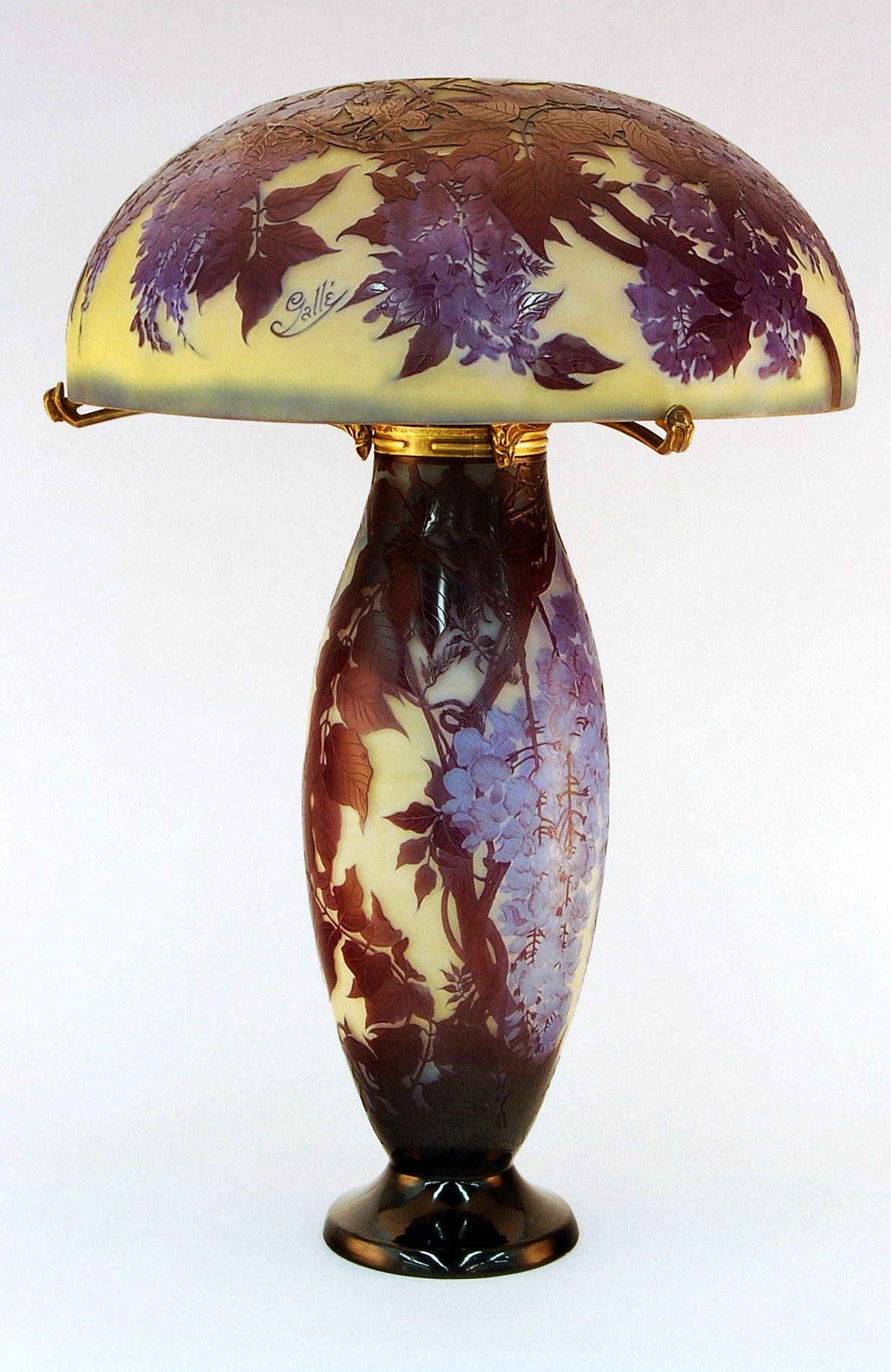 Emile Galle Cameo Glass Table Lamp For Sale Antiques