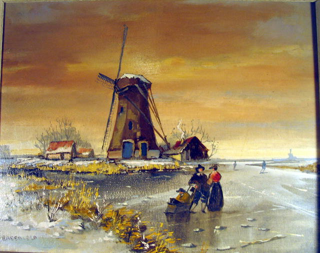 Breedveld hendrik dutch holland windmill oil painting for for Prints of famous paintings for sale