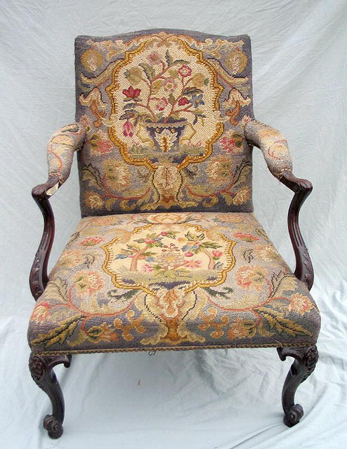 A truly amazing chair from the 18th century (circa 1800) with the original  needlepoint work still in good condition. A minor amount of wear this chair  was ... - INCREDIBLE 18th / 19th CENTURY NEEDLEPOINT CHAIR For Sale Antiques