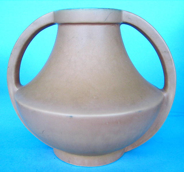 Coors 1930s Art Deco Pottery Golden Form 2 Handled Vase For Sale